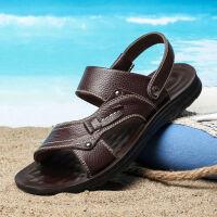【头层牛皮】凉鞋男沙滩鞋男士凉鞋驾车鞋防滑凉拖鞋