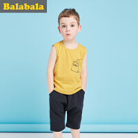 巴拉巴拉儿童短袖套装男小童宝宝2017夏季新款