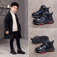 男童鞋子秋冬季儿童运动鞋男加绒男孩中大童