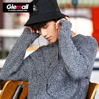 森马潮牌GLEMALL 毛衣男士秋冬纯色针织衫青年时尚复古毛衫