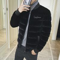 新款冬款男士加绒外套韩版青少年加厚棉衣学生帅气潮流棉服DJ-DS215