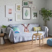 北欧沙发盖布全盖网红ins沙发巾单人双人沙发套罩小清新简约毯子 北欧鹿 (DEER)