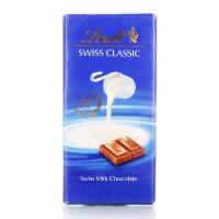 瑞士进口 瑞士莲 瑞士经典排装 牛奶巧克力100g
