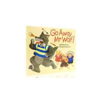进口英文原版绘本 Go Away Mr.Wolf 走开,大灰狼先生 廖彩杏推荐书单 低幼儿童英语启蒙翻翻书 亲子睡前趣
