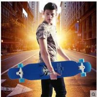 潮流精美图案防滑轮滑板车成人儿童代步双翘四轮滑板车滑板舞板长板车
