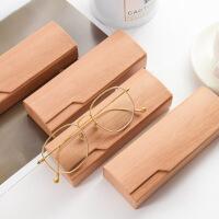 小清新眼镜盒创意复古文艺近视镜收纳盒男女学生简约便携随身防压