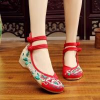 绣花鞋女老北京布鞋女牛筋底妈妈鞋汉服鞋民族风舞蹈鞋