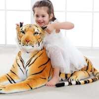 老虎毛绒玩具公仔仿真大号玩偶布娃娃小可爱睡觉抱枕儿童生日礼物