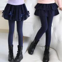 女童打底裤秋冬裤裙儿童裙裤假两件秋装裤子