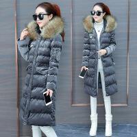 女冬季2018新款韩版加厚羽绒棉衣冬装中长款金丝绒棉袄外套潮