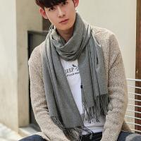 围巾男冬季新款韩版百搭简约男士围巾学生针织时尚长款年轻人围脖