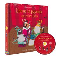 Usborne Llamas in Pyjamas 睡衣派对等12个睡前故事 英语自然拼读故事6合1 含CD 培养语感
