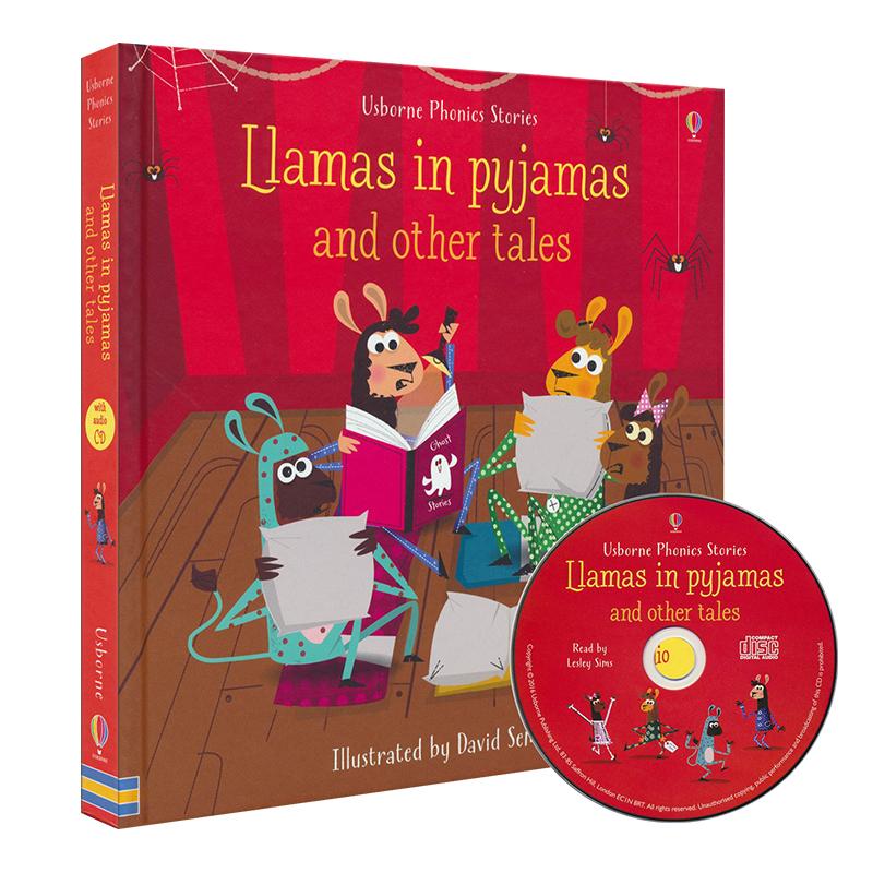 Usborne Llamas in Pyjamas 睡衣派对等12个睡前故事 英语自然拼读故事6合1 含CD 培养语感 儿童英文绘本原版