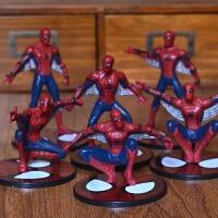 漫威蜘蛛侠玩具 英雄归来英雄人偶公仔模型 书桌摆件