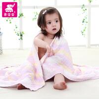 象宝宝 婴儿浴巾纯棉新生儿纱布浴巾 新生儿浴巾盖毯两色