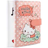 广博(GuangBo)皮面记事本子96张140*210mm空白计划本/Hello Kitty凯蒂猫颜色图案随机KT81108当当自营