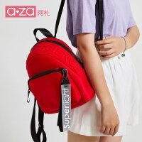 【立减100】aza2019新款韩版百搭潮流迷你学生运动大容量背包小书包双肩包女