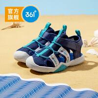 361度童鞋 男小童包头凉鞋2021夏季新款男童沙滩凉鞋儿童沙滩鞋