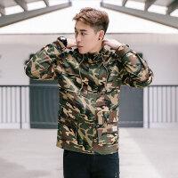 秋冬秋季常规青年外套标准男士纯色单排扣韩版潮连帽风衣
