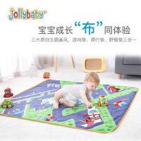 jollybaby祖利宝宝 儿童爬行垫可折叠婴儿客厅家用地垫整张垫子宝宝爬爬垫
