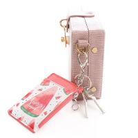 创意卡通皮质公交卡套 甜美可爱饭卡交通学生卡包便携钥匙扣挂绳