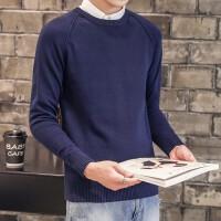 秋冬季男士圆领毛衣男青年休闲男装线衣韩版修身针织衫潮