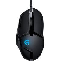 【支持当当礼卡】罗技G402高速追踪电竞游戏鼠标 USB有线鼠标 宏编程CF吃鸡LOL赛博朋克APEX电竞鼠标 黑色