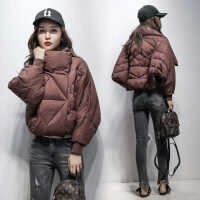 №【2019新款】冬天年轻人穿的 羽绒服女短款韩版女装轻薄斗篷蝙蝠型面包服潮