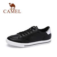 camel骆驼女鞋 秋季新品舒适透气平跟单鞋时尚百搭撞色小白鞋
