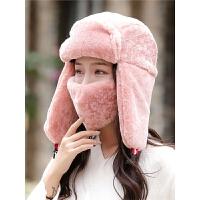 雷锋帽女韩版可爱潮保暖毛绒护耳帽冬季户外加厚骑车防风滑雪帽子