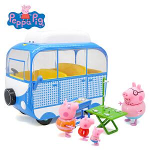 Peppa Pig小猪佩奇粉红猪小妹PeppaPig佩佩猪过家家玩具假日系列大露营车