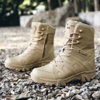 新款马丁靴男靴高帮鞋户外靴登山越野男靴耐磨靴男战术靴大码男鞋