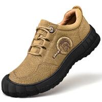 男鞋夏季登山鞋头层牛皮男防水鞋防滑耐磨户外徒步运动鞋减震男鞋