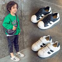 男童春秋儿童运动鞋贝壳头板鞋小白鞋