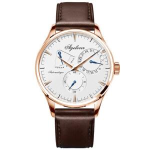 艾戈勒男表全自动机械表真皮 休闲腕表时尚潮流皮带男士手表1