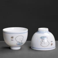 功夫茶具主人杯薄胎小沙弥白瓷茶碗单杯小茶杯品茗杯子陶瓷器茶盏