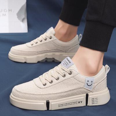 男鞋夏季潮鞋休闲皮鞋男士运动板鞋韩版潮流帆布小白鞋子
