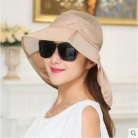 帽子女遮阳帽可折叠太阳帽骑车网帽防晒帽防紫外线遮脸电动车   可礼品卡支付