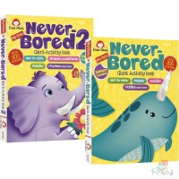 My First Never Bored Giant Activity Book 2册套装 智趣满分 益智启蒙游戏书 加