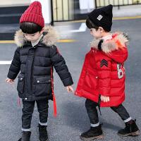 男童冬装儿童外套中长款羽绒宝宝棉袄冬季