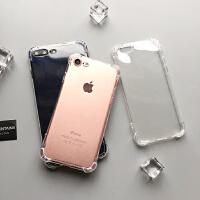 简约iphone7手机壳6s防摔防震硅胶4.7保护套xr简约商务xs max个性抗震防摔壳 苹果XR 6.1寸透明四角