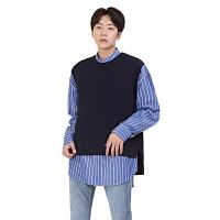 秋冬秋季毛织背心男士标准韩版青年工作服纯色套装套头背心