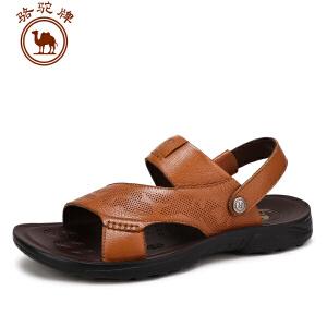骆驼牌男鞋 夏季新款 日常休闲凉鞋舒适透气沙滩鞋
