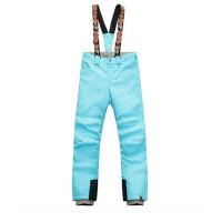 滑雪裤女士 单板双板防水加棉背带可拆卸纯色保暖滑雪裤