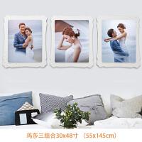 婚纱照放大相框挂墙摆台48寸高端影楼照片墙韩版定做相框加洗照片 双层立体水晶