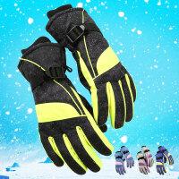 女士冬季保暖加厚户外女防风防寒骑自行车骑电车用防滑滑雪棉手套