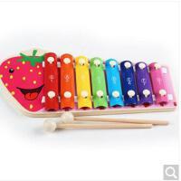 巧之木木制八音阶手敲琴八音琴小木琴 婴幼儿童宝宝益智音乐玩具