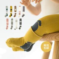 宝宝袜子春秋季婴儿护膝袜筒短袜套装