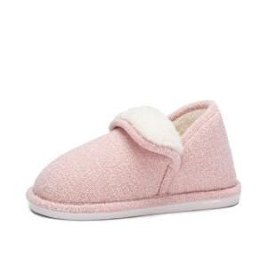 camel 骆驼女鞋  秋冬新款 简约纯色保暖居家棉拖鞋包后跟毛毛鞋