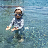 Yinbeler鲨鱼儿童泳衣